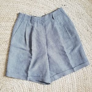 Vintage - Ultra High Waist Linen Blend Shorts